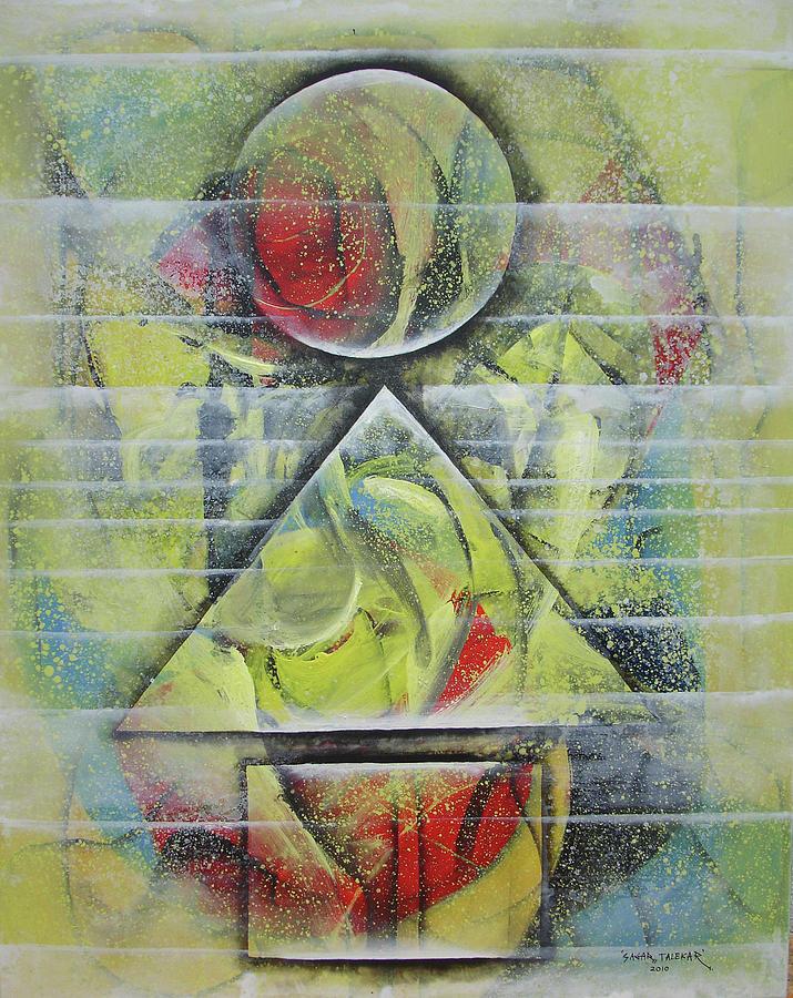 Abstract Painting - Mandala 9 by Sagar Talekar