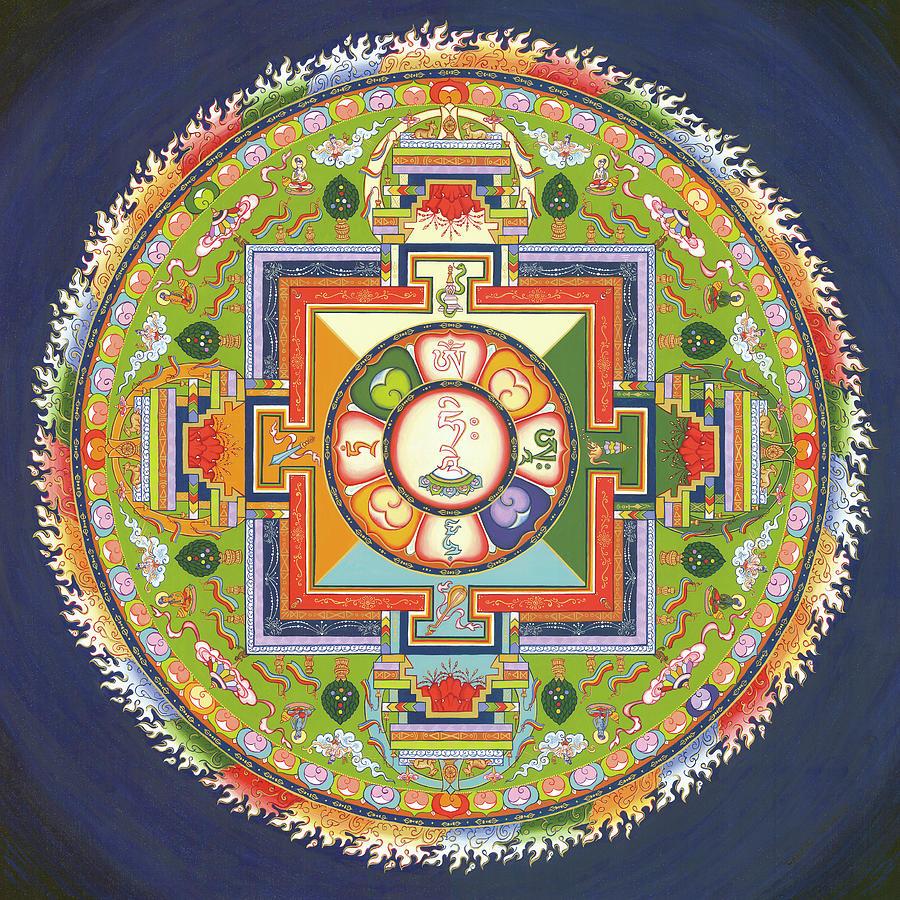 Mandala Painting - Mandala Of Avalokiteshvara           1 by Carmen Mensink