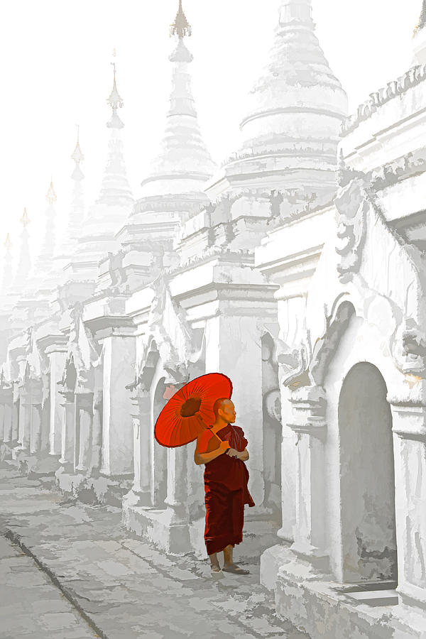 Asian Photograph - Mandalay Monk by Dennis Cox