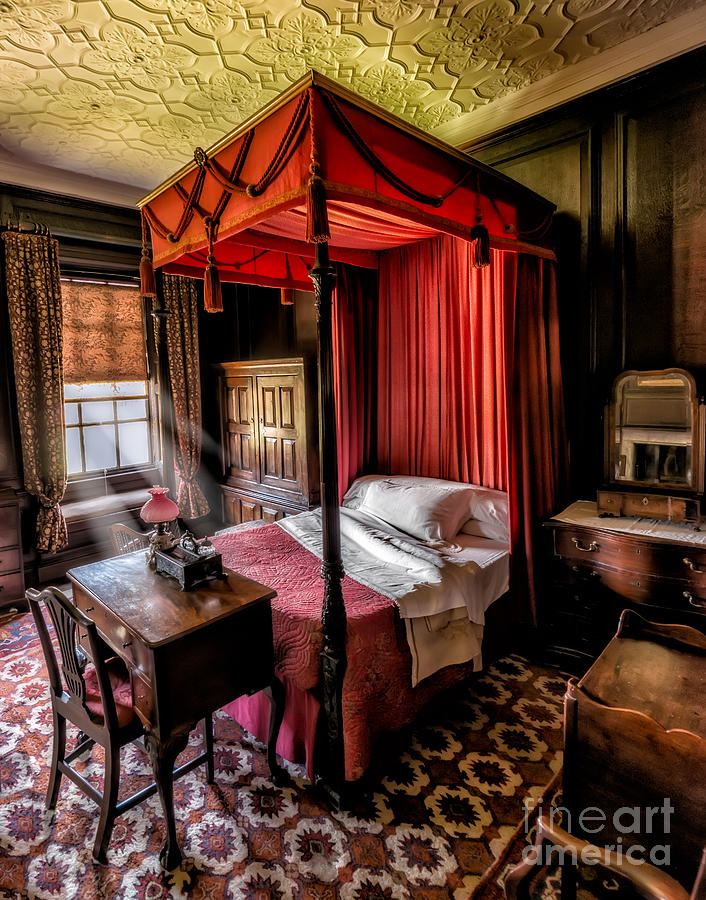 British Photograph - Mansion Bedroom by Adrian Evans