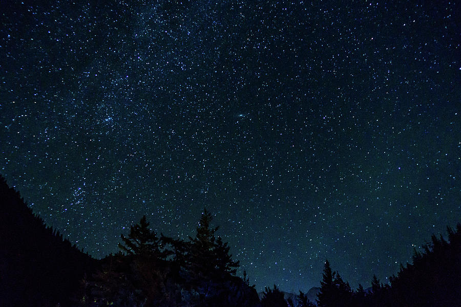 Dark Blue Sky Background: Many Starts On Blue Dark Night Sky As A Cosmos Background