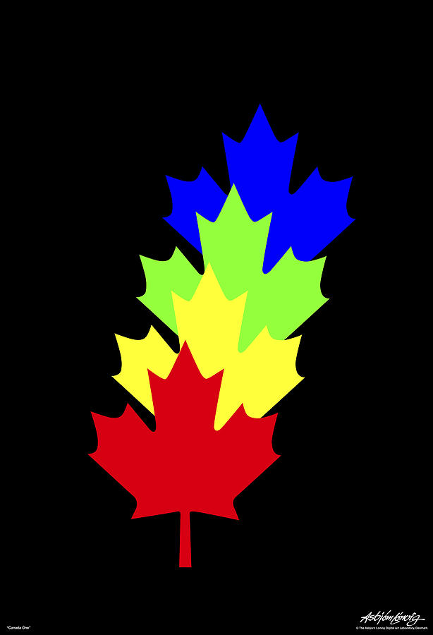 Maple Leaves Digital Art by Asbjorn Lonvig