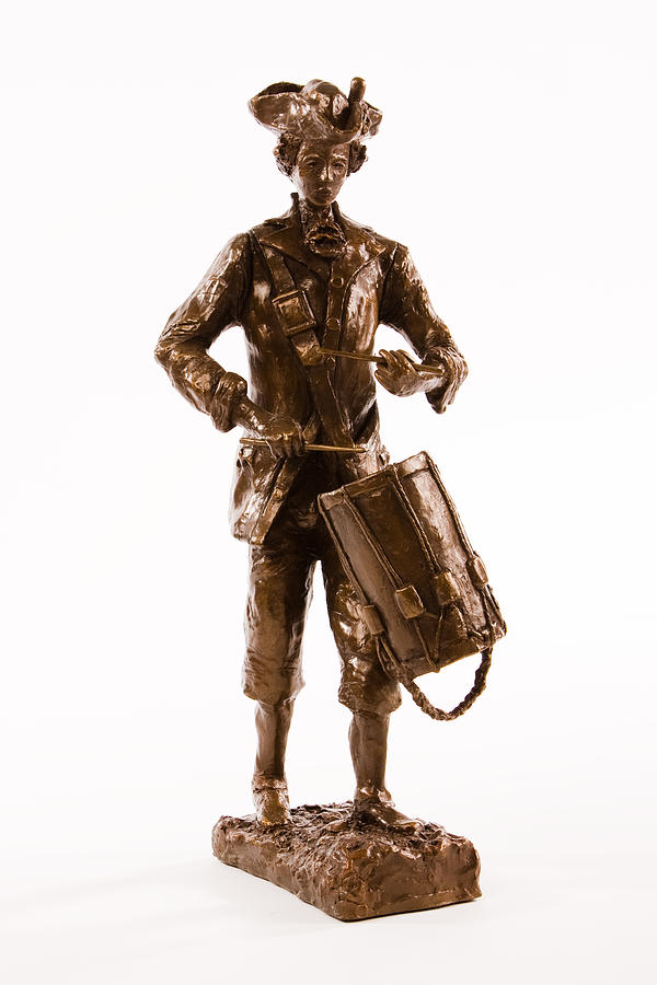 Revolutionary Soldier Sculpture - Marching Drummer by Alan Thompson