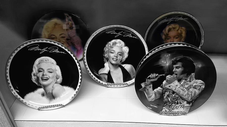 Marilyn Photograph - Marilyn And Elvis by Daniel Hagerman