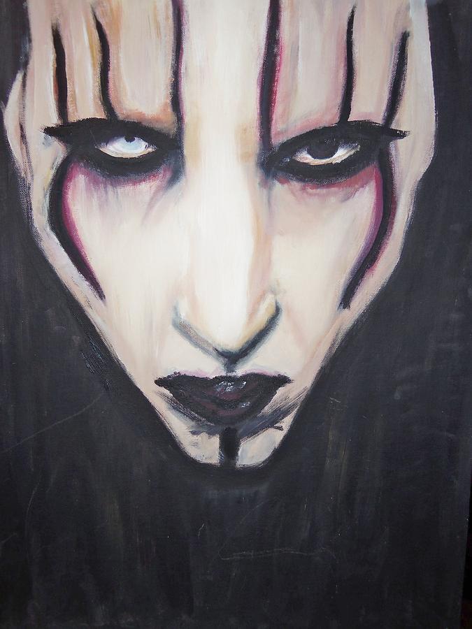 Marilyn Manson Painting - Marilyn Manson by Crystal  Rickman