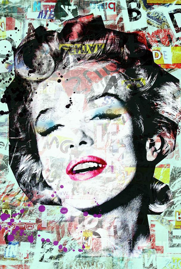 Marilyn Digital Art - Marilyn  by Mark Ashkenazi