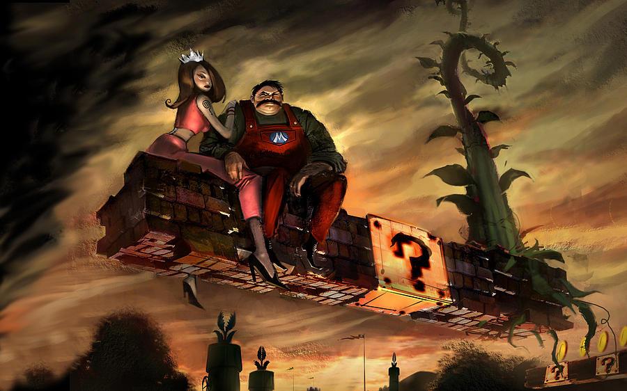 Mario Digital Art - Mario by Super Lovely