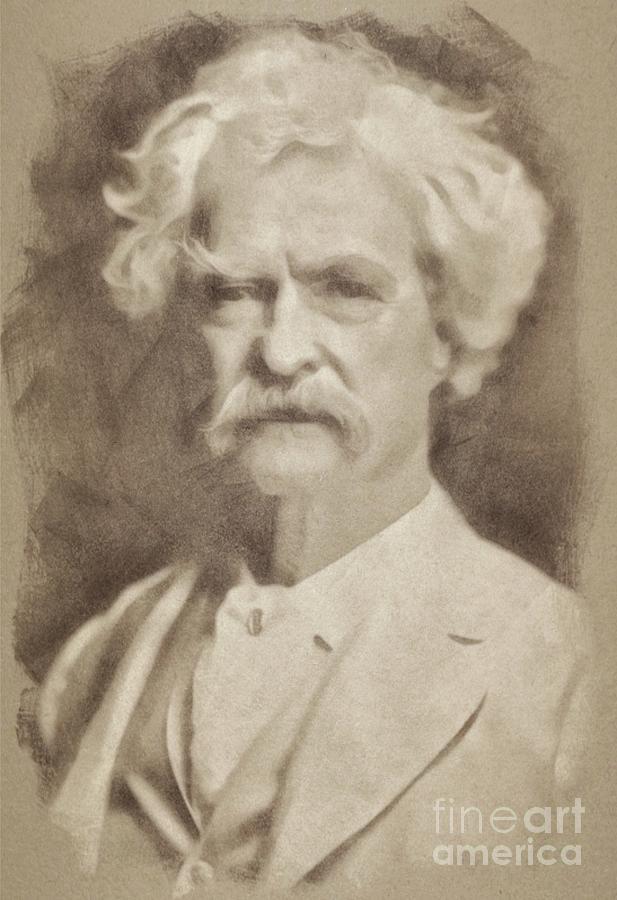 Mark Twain, Literary Legend Drawing