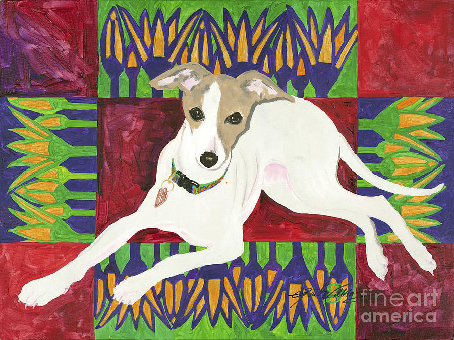 Dog Painting - Marlee by Gail Denney Shelton