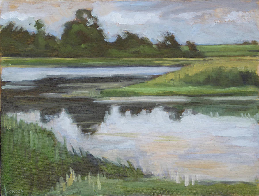 Landscape Painting - Marsh, June Afternoon by Kim Gordon
