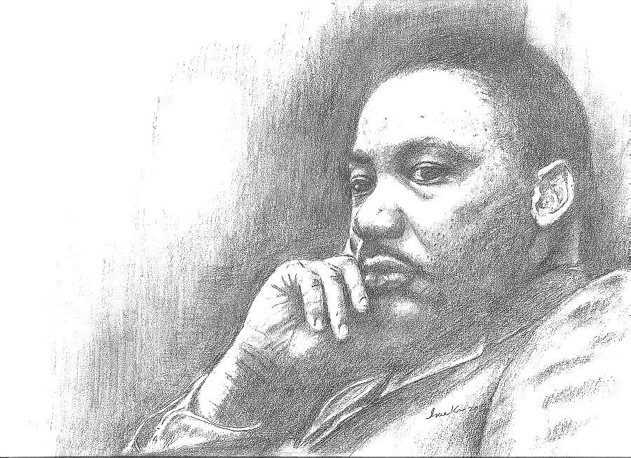 Martin Luther King Jr Drawing by Hae Kim