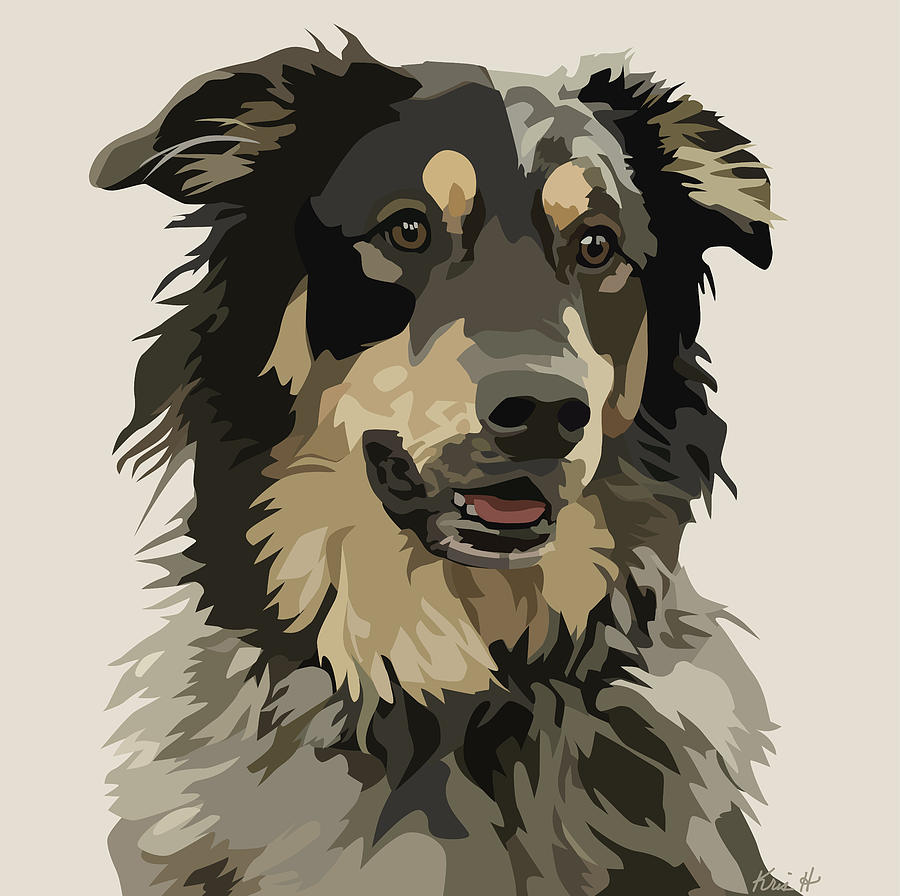 Mixed-breed Dog Digital Art - Marvelous Mix II by Kris Hackleman