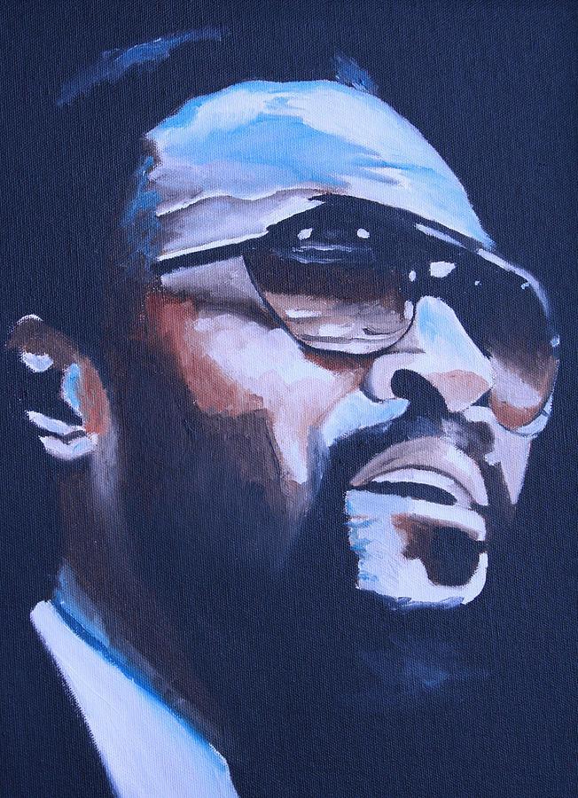 Celebrity Portraits Painting - Marvin Gaye. by Mikayla Ziegler