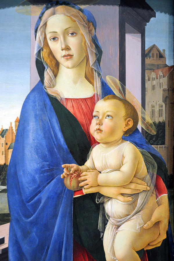 Virgin Photograph - Mary With Baby Jesus by Munir Alawi