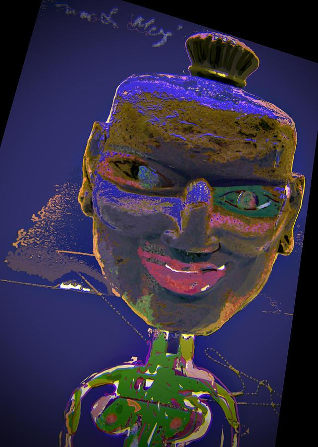 Portrait Mixed Media - Mask 16 by Noredin Morgan