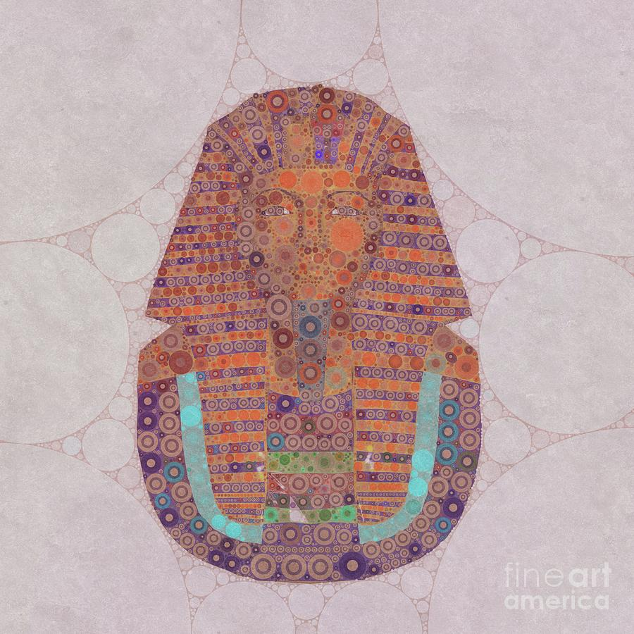 Tutankhamun Digital Art - Mask Of Tutankhamun, Pop Art By Mb by Mary Bassett
