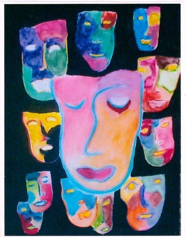 Painting Mixed Media - Masquerade by Jo Shepherd-Ripley