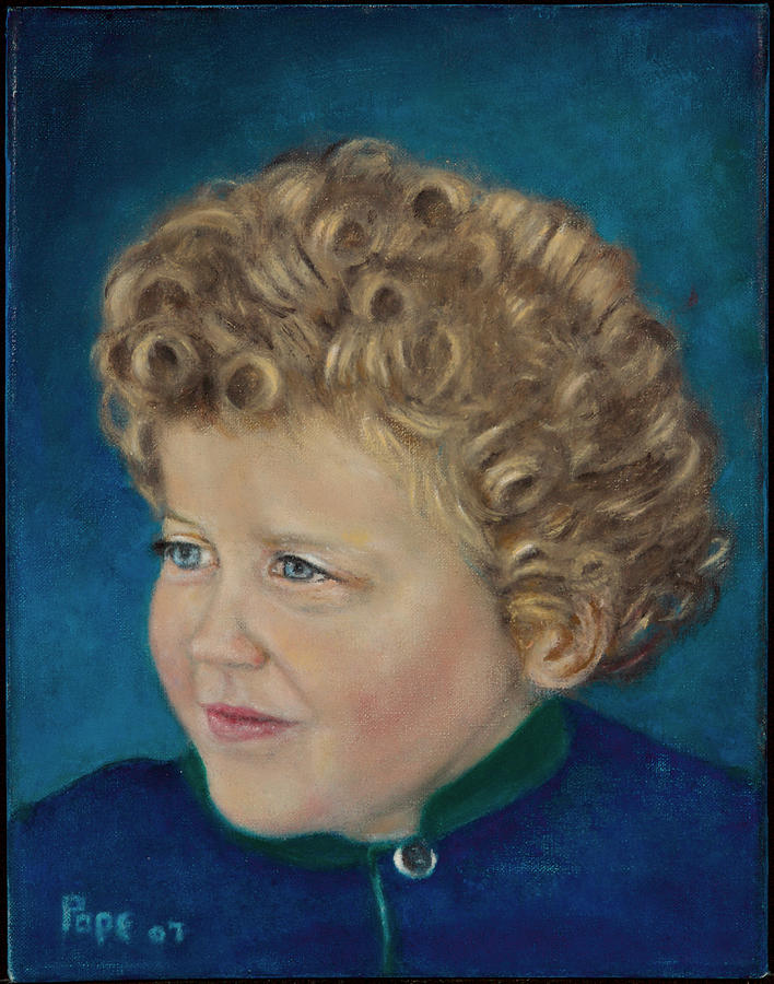 Portrait Painting - Master Ben by Bruce Ben Pope