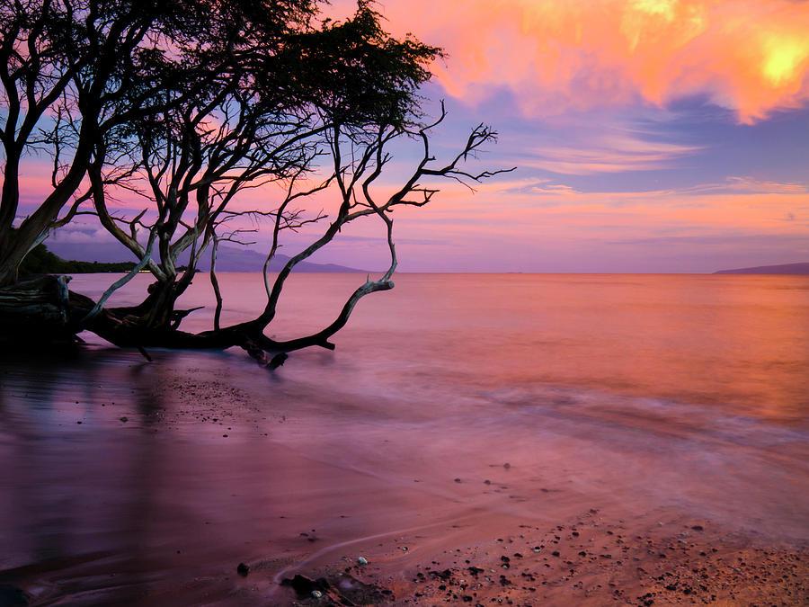 Sunset Photograph - Maui Sunset by Christopher Johnson