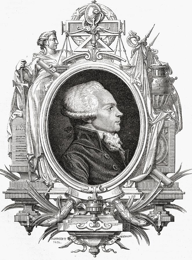 French Drawing - Maximilien Robespierre, 1758-1794 by Vintage Design Pics