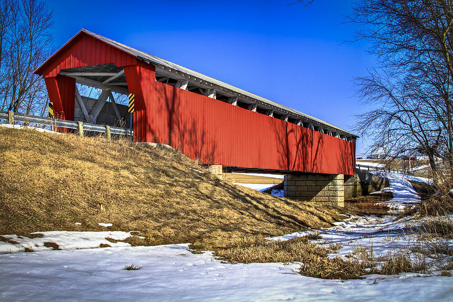 Mccolly  Covered Bridge Photograph