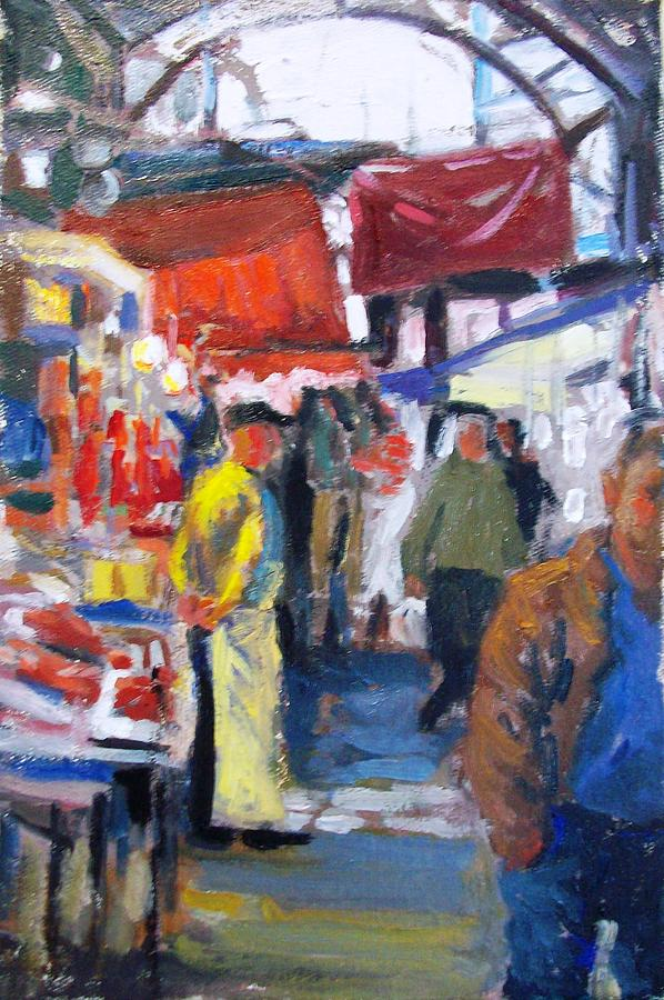 Meat Market Painting - Meat Market by George Siaba