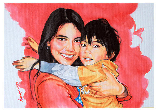 Portraits Painting - Meg And William by Bobby Barredo