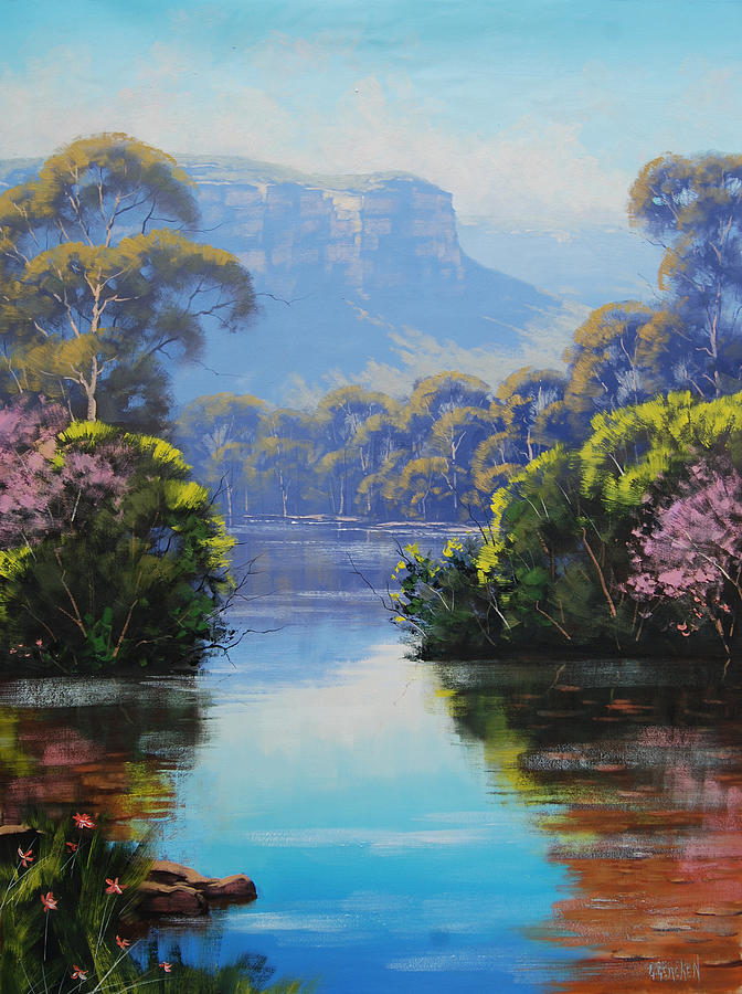 River Painting - Megalong Creek by Graham Gercken