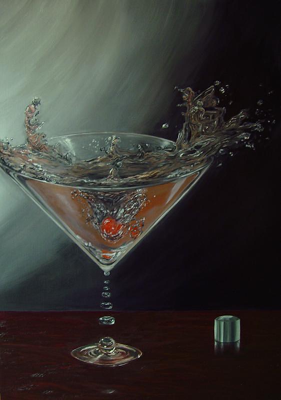Martini Painting - Melody Martini by Ronnie Miyashiro
