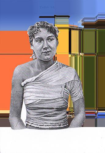 Collage Digital Art - Melrose Wundverband by Nils Eichberg
