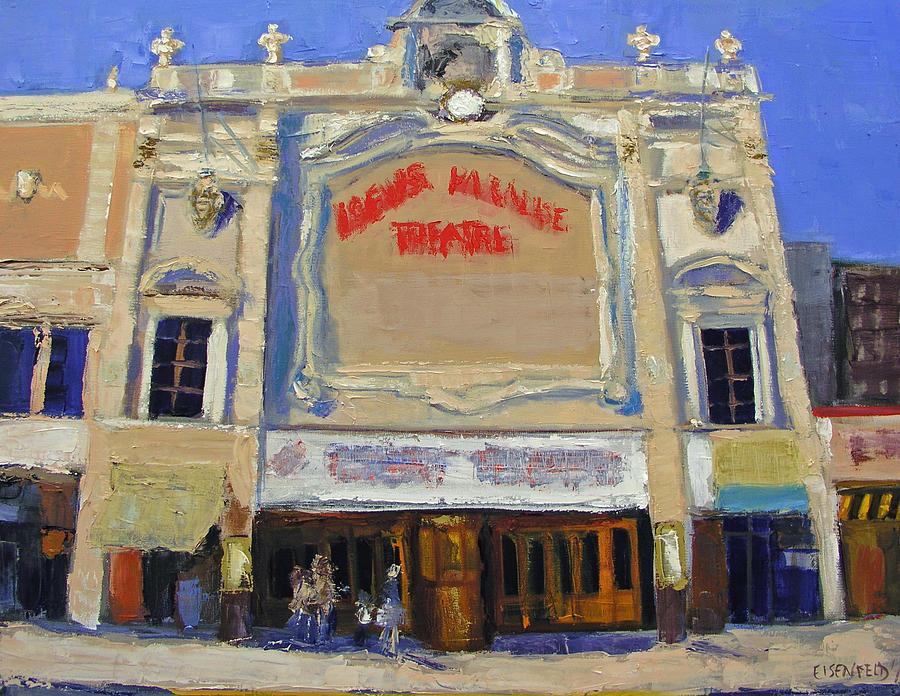 Movies Painting - Memories Loews Paradise Bronx by Gail Eisenfeld