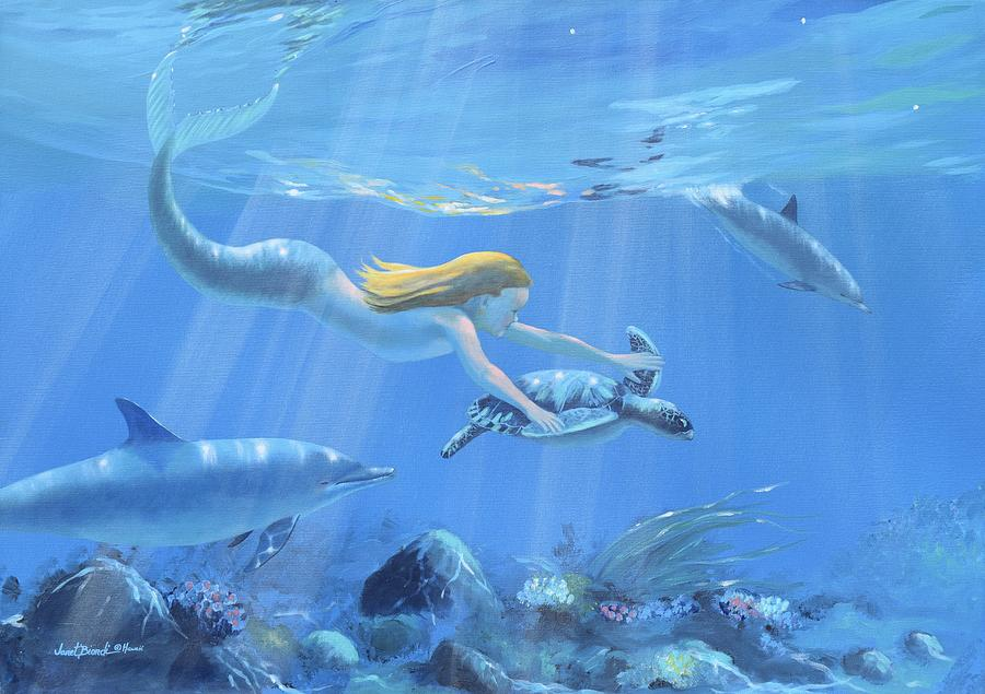Mermaid Painting - Mermaid Fantasy by Janet Biondi
