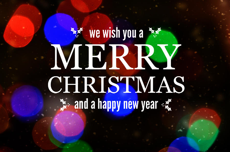 Card Photograph - Merry Christmas by Linda C Johnson