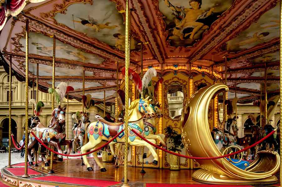 Florence Photograph - Merry Go Round by Wolfgang Stocker