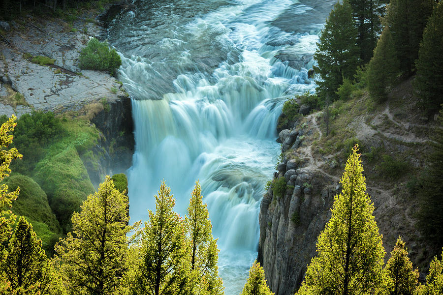 Mesa Falls Photograph - Mesa Falls - Yellowstone by Dan Pearce