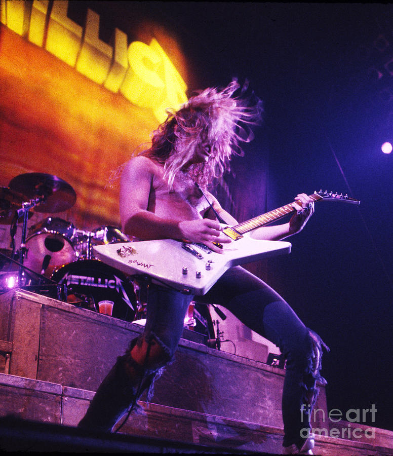 Metallica Photograph - Metallica 1986 James Hetfield by Chris Walter