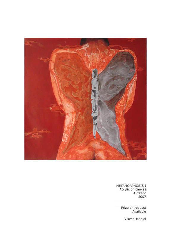 Man Painting - Metamorphosis I by Vikesh Jandial