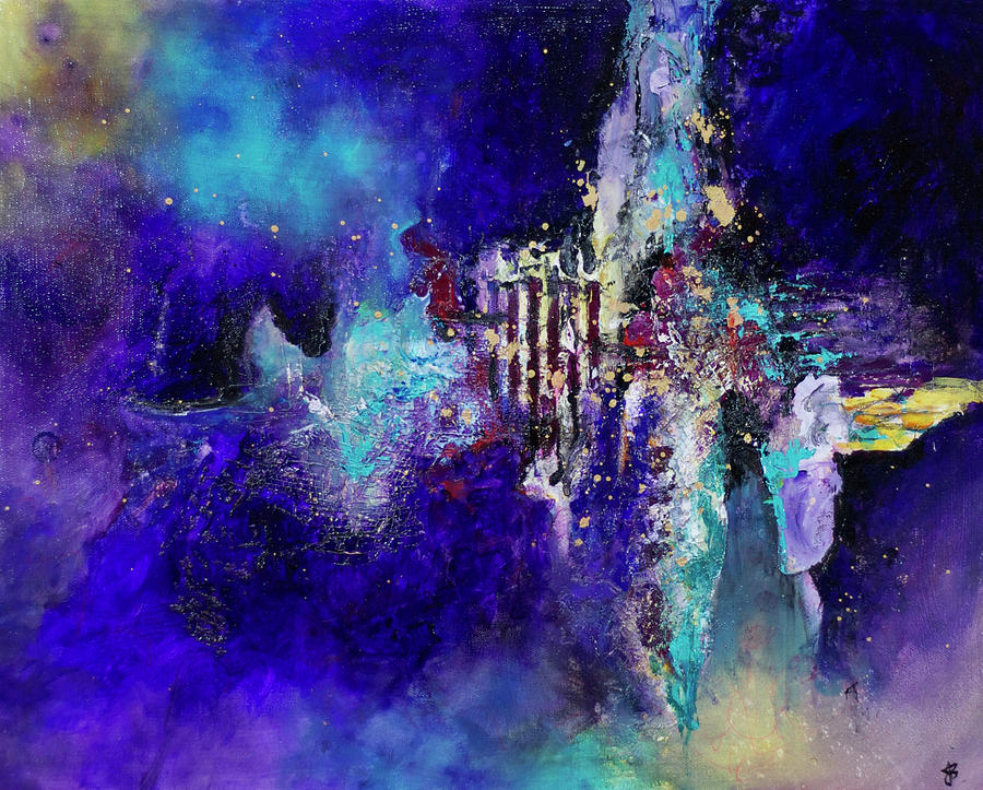 Galaxy Painting - Metamorphosis by Jenny Bagwill