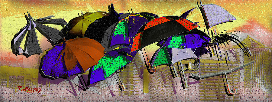 Rain Digital Art - Metro Rains by Tony Marquez