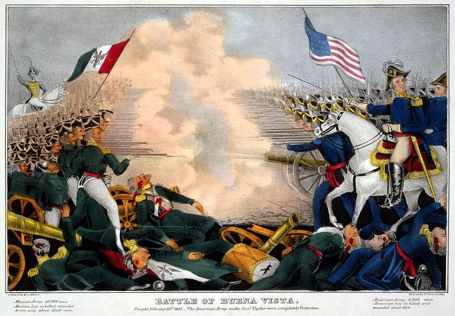 1840s Photograph - Mexican-american War. Battle Of Buena by Everett