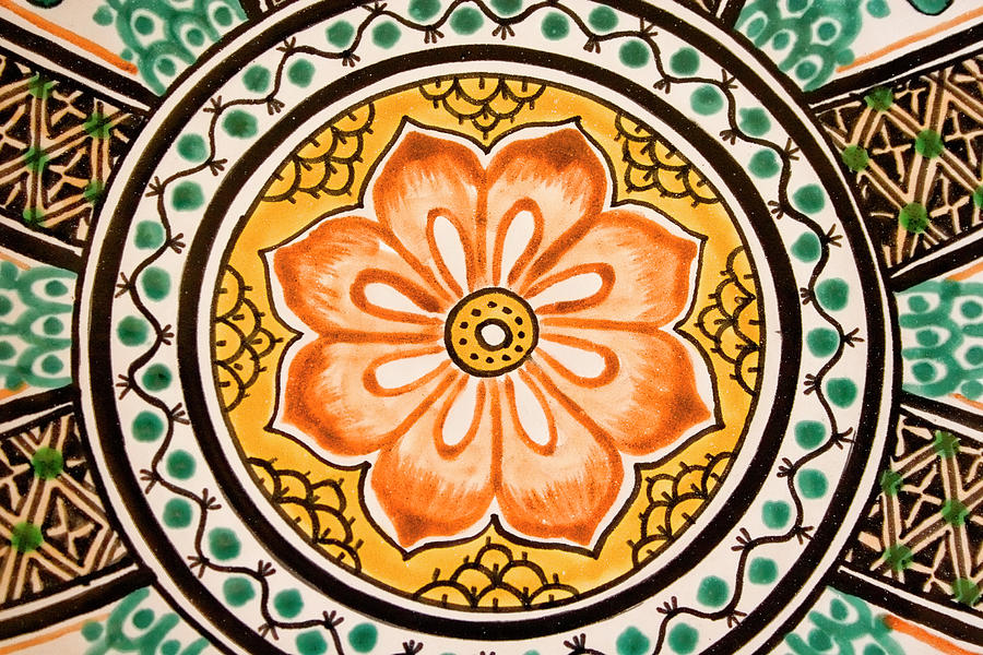 Tile Photograph - Mexican Tile Detail 1 by Carol Leigh