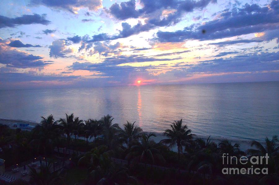 Sunrise Photograph - Miami Sunrise by Pravine Chester