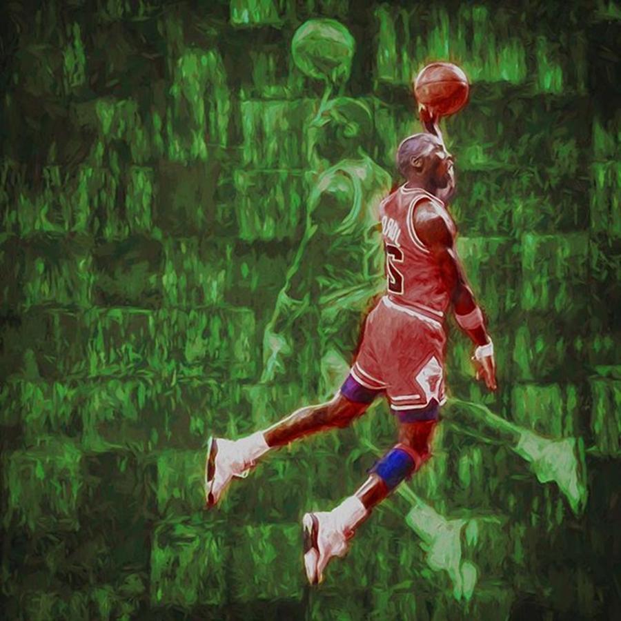 Tarheels Photograph - Michael Jordan. Air Jordan. The by David Haskett II