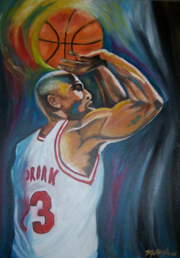Michael Jordan Portrait Paintings Painting - Michael Jordan by Mikayla Ziegler