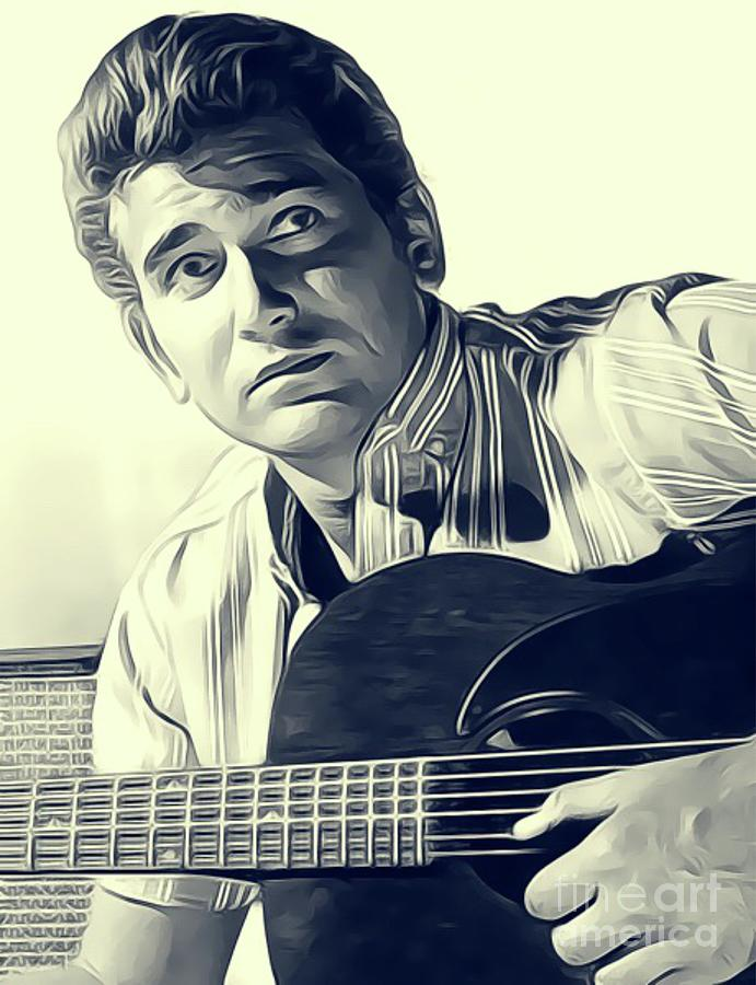 Michael Landon, Actor Digital Art