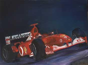 Michael Schumacher Formula One Ferrari. Print by Allan Storer