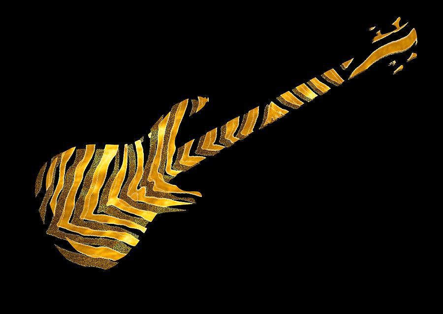 Bass Digital Art - Midas Bass by Guitar Wacky
