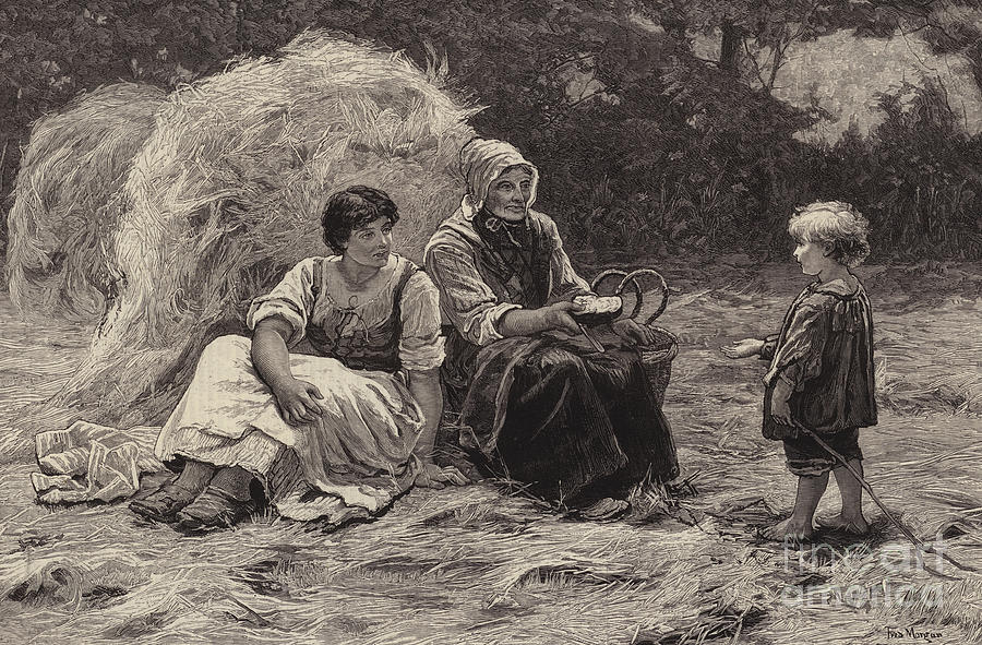 Frederick Morgan Drawing - Midday Rest by Frederick Morgan