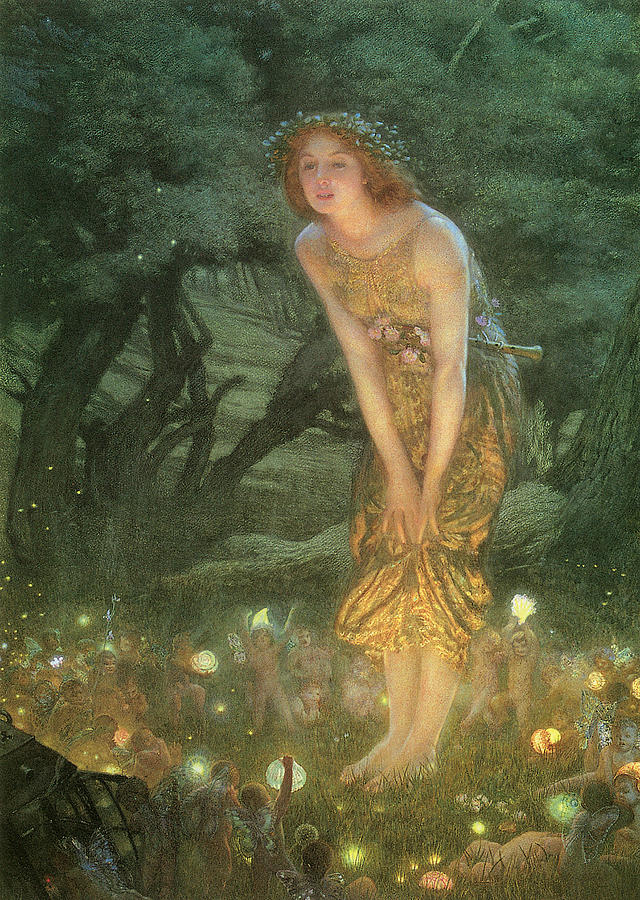 Midsummer Eve Painting - Midsummer Eve by Edward Robert Hughes