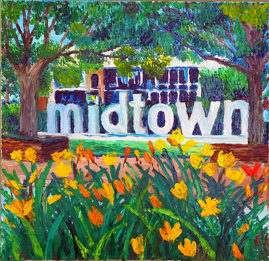 Midtown Painting - Midtown In Bloom by Lauren Luna